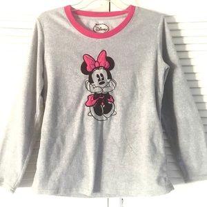 DISNEY Minnie Mouse Pajama TOP PJ